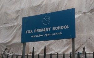 Fox Primary School - currently a building site